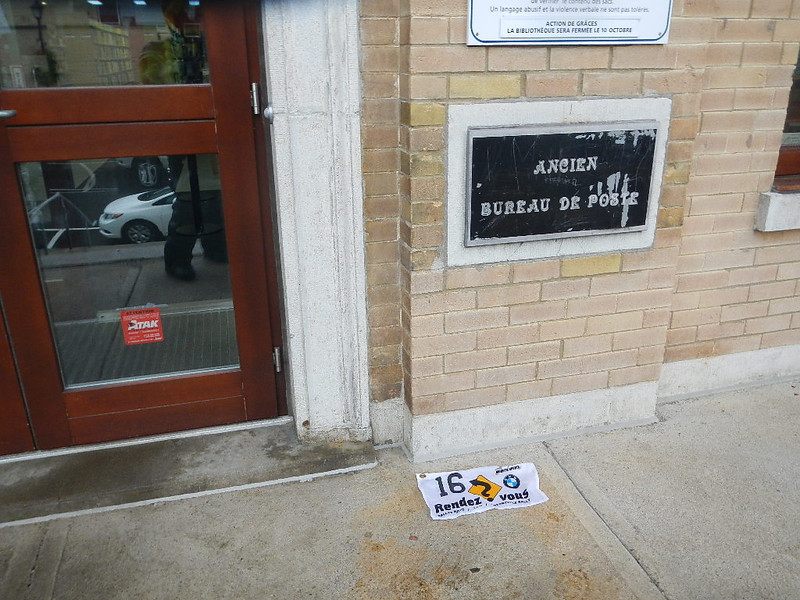 "Sainte Agathe des Monts - pic of ""Old Post Office"" sign"