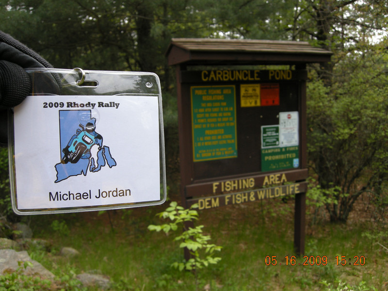 CP1 - Carbuncle Pond Fishing Area - Greene, RI<br /> Get a picture of sign - 430 points