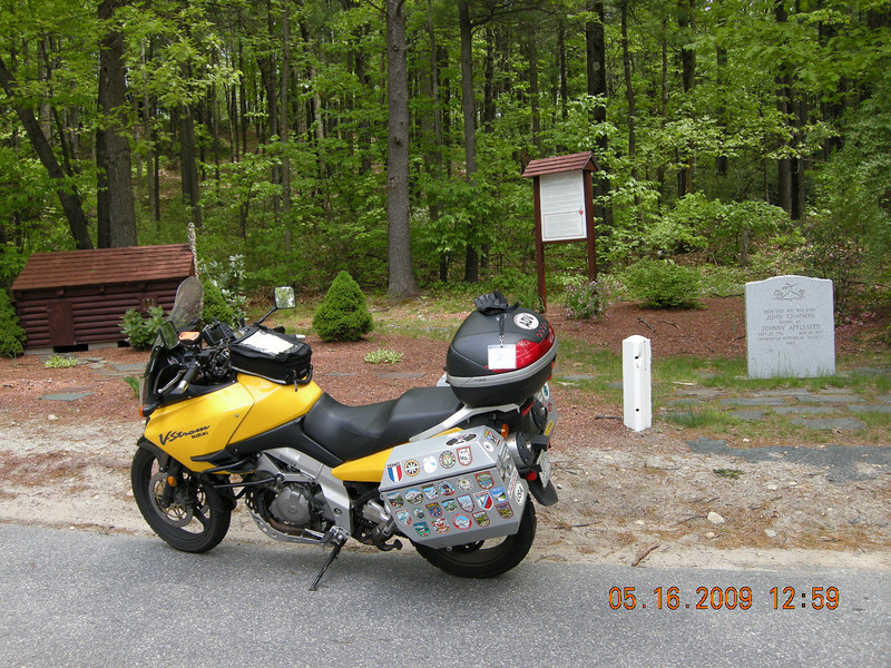 JA1 - Johnny Appleseed's birthplace - Leominster, MA<br /> Get a picture of bike in front of birthplace - 2,050