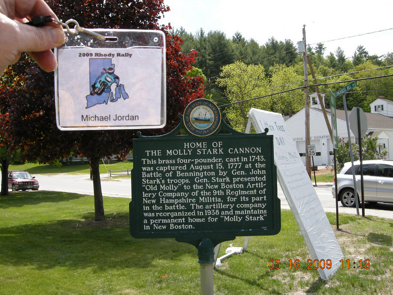 MS2 - Molly Stark Cannon - New Boston, NH<br /> Get a picture of the commemorative plaque - 3,878 points