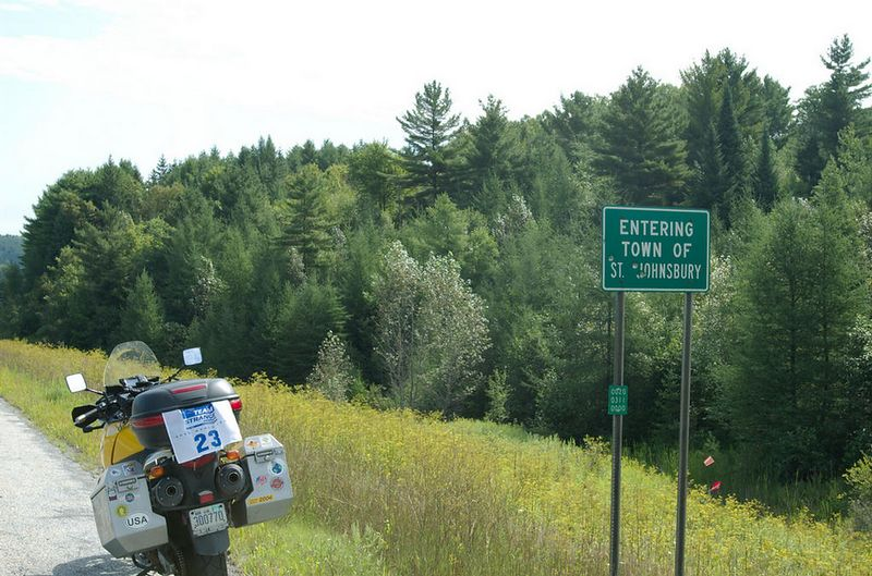 Saint Johnsbury, Vermont<br /> Bullet holes in sign - a disappearing touch of Americana ;-)