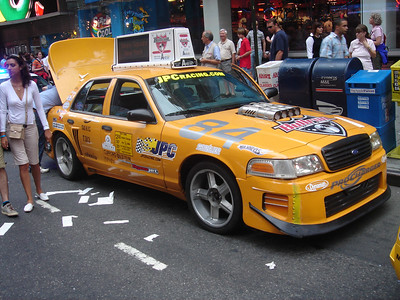 This is one taxi cab you won't see stuck in NYC traffic.