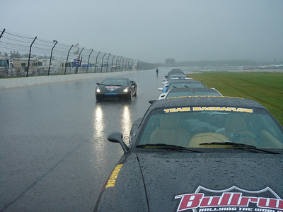 Our first stop at Poconos Raceway. It was a virtual monsoon.
