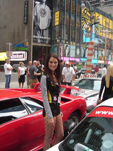 Ashley in Times Square.