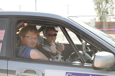 Inside Subaru Rally Car