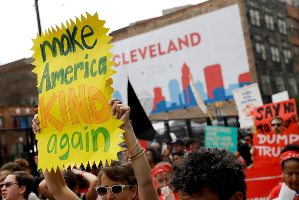 Rally against Donald Trump in Cleveland