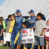 Travis Pastrana and Christian Edstr with new young fans.