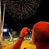 O público assiste à queima de fogos de artifício na abertura do desafio do Super Prime, a grande largada promocional e abertura do Rally Internacional dos Sertões 2010 que aconteceu em Goiânia. O evento tem inicio na cidade de Goiânia (GO) no dia 11/08 e encerra no dia 20/08, na cidade de Fortaleza (CE). Goiânia/GO, Brasil - 10/08/2010. Foto: Theo Ribeiro / Fotoarena
