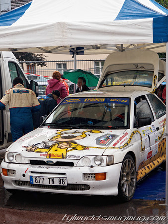 Equipage n°1<br /> <br /> VOIRIN Pascal <br /> MARGAINE Nadine <br /> <br /> Ford Escort Cosworth