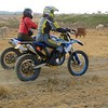 Lorraine and I have fun slowly riding past the cattle grazing at the Soysambu Conservancy