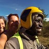 My first boda boda ride down the long rocky dirt road.
