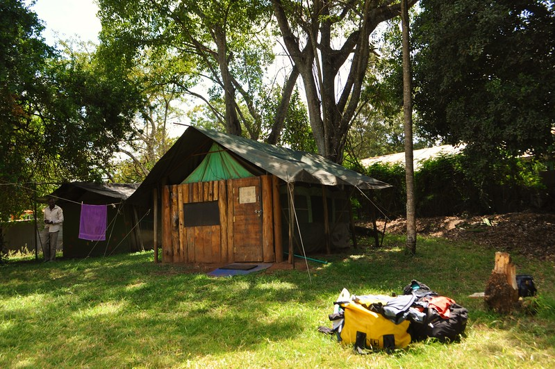 Our home for the next few days. Karen Camp in Nairobi where many overlanders come together to share wild road stories. I spy a fabulous Wolfman Luggage Expedition dry duffle. Thanks so much, Eric Hougen! Love you.