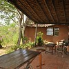 The veranda of our home the first shooting week with a view of the Nairobi National Park.