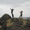Tiffany captures a jubilant Nicole as I jumps from the rock screaming how much I love Africa.