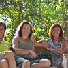 The girls enjoy some veranda time at Lorraine's friend Alistair's beautiful home in Kampala, Uganda for the week.