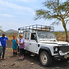 Rowena took us for a wild ride through heavy African bush in her trusty Land Rover to track poachers her were doing illegal grazing on Soysambu.