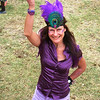 Tiffany in her beautiful purple attire for the fun Soysambu Wild festival in Kenya.