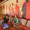 Lorraine Chittock and her beautiful friend Elizabeth wait for a table at the Masai Lodge restaurant.
