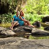 Lorraine Chittock and I enjoy the fairy pool in the gorge not far from our Kitengela home.