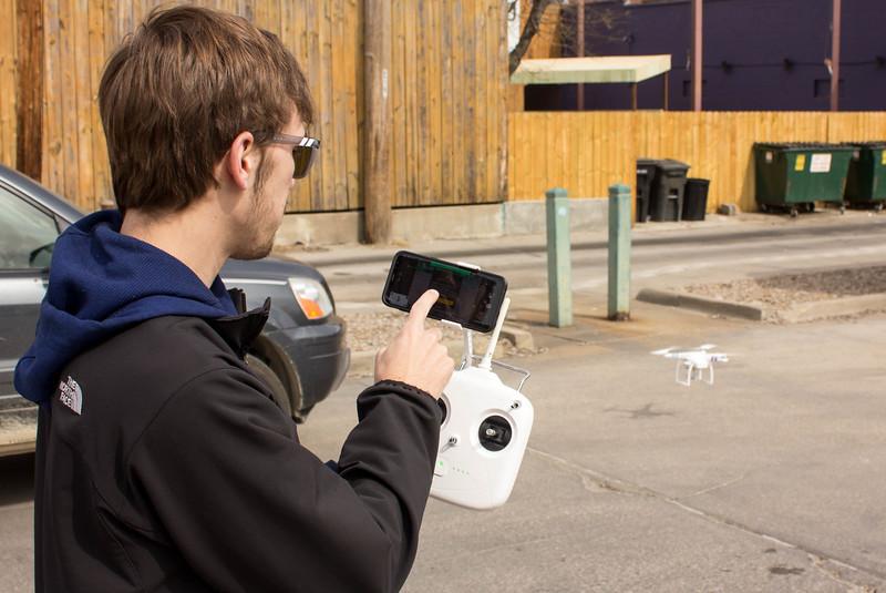 Drone in Aggieville