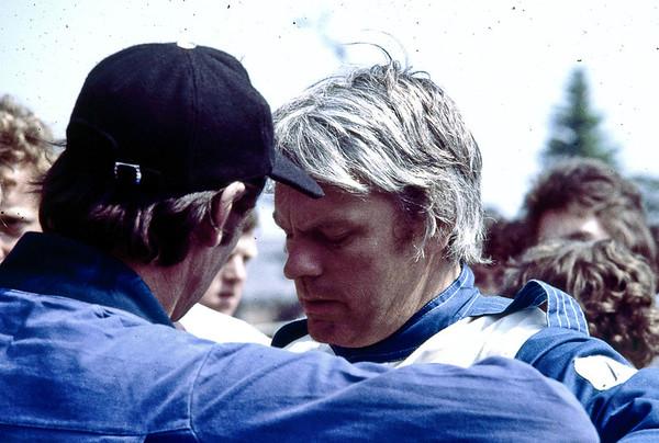 Clark speaking to Mick Jones