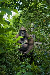 Gorilla sculpture