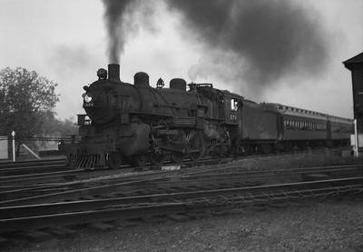 2021.001.NO.03.013--ralph wehlitz 6x9 neg [photographer unknown]--C&NW--steam locomotive 4-6-2 E-S 578 on commuter passenger train action--Mayfair (Chicago) IL--no date