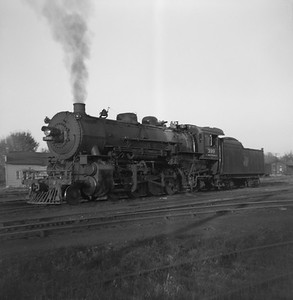 2021.001.NO.04.008B--ralph wehlitz 6x9 neg [photographer unknown]--CStPM&O--steam locomotive 2-8-2 J-A 399--Merrillan WI--no date
