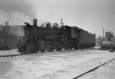 2021.001.NO.04.003--ralph wehlitz 6x9 neg [photographer unknown]--CStPM&O--steam locomotive 4-6-0 K-1 238--Marshfield WI--no date