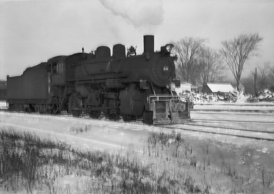 2021.001.NO.04.004--ralph wehlitz 6x9 neg [photographer unknown]--CStPM&O--steam locomotive 4-6-0 K-1 238--Marshfield WI--no date
