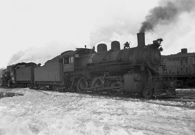 2021.001.NO.04.002--ralph wehlitz 6x9 neg [photographer unknown]--CStPM&O--steam locomotive 4-6-0 K-1 108--Marshfield WI--no date