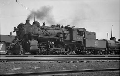 2021.001.NO.01.012M--ralph wehlitz 3x5 neg [photographer unknown]--SOO--steam locomotive 2-8-0 F-22 2429 in yard--location unknown--no date