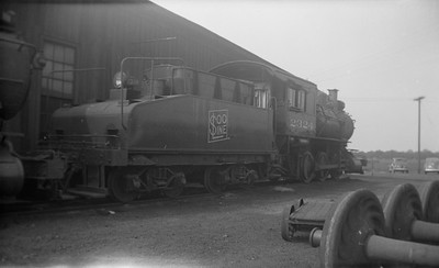 2021.001.NO.01.012--ralph wehlitz 116 neg [photographer unknown]--SOO--steam locomotive 0-6-0 B-23 2324 rear tender view--Schiller Park IL--no date