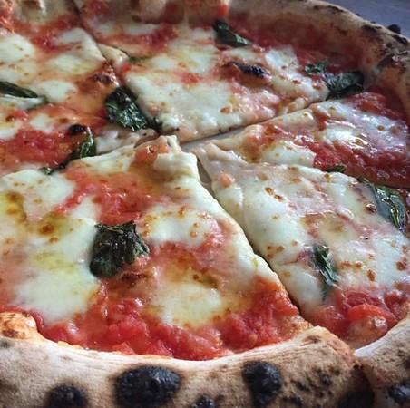 Margherita pizza with mozzarella di bufala