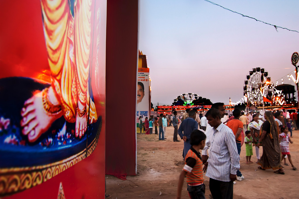 Festival Fair in the Central Market Ghantaghar Ramleela Maidan Ghaziabad India