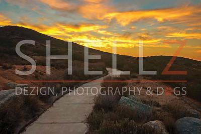 Sunset at Cedar Creek Falls - Ramona