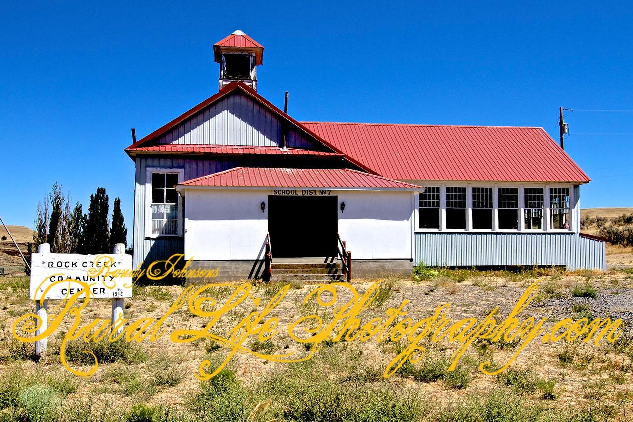 Rock Creek School now a community  Center established 1912