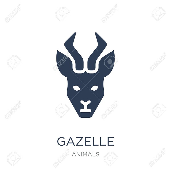 Gazelle icon. Trendy flat vector Gazelle icon on white background from animals collection