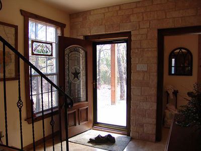 Front door from the landing