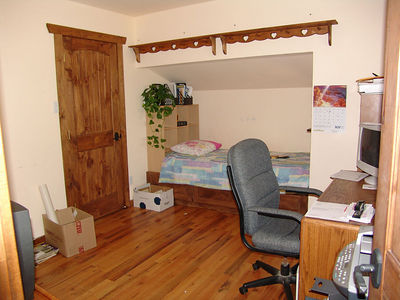 The second bedroom/office