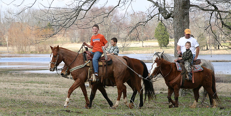 """Taken with my Tamron 28-75 f/2.8 Lens. The Kid in the Red T-shirt is the Ranch owners Son """"Bubba"""". He was helping out on this ride. The other riders on this ride, are in the below picture."""