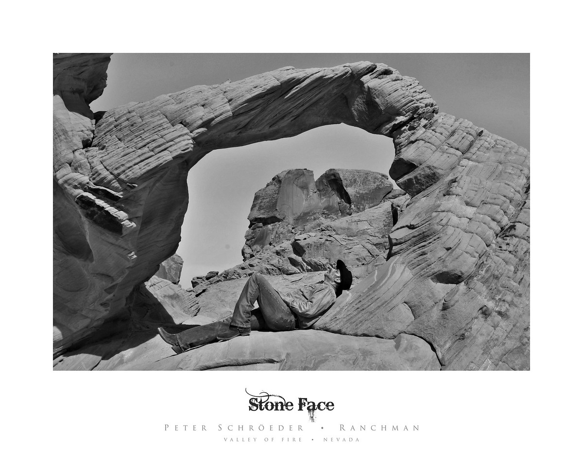 Stone Face - Ranchman Collection by Peter Schroeder - Valley of Fire - Nevada
