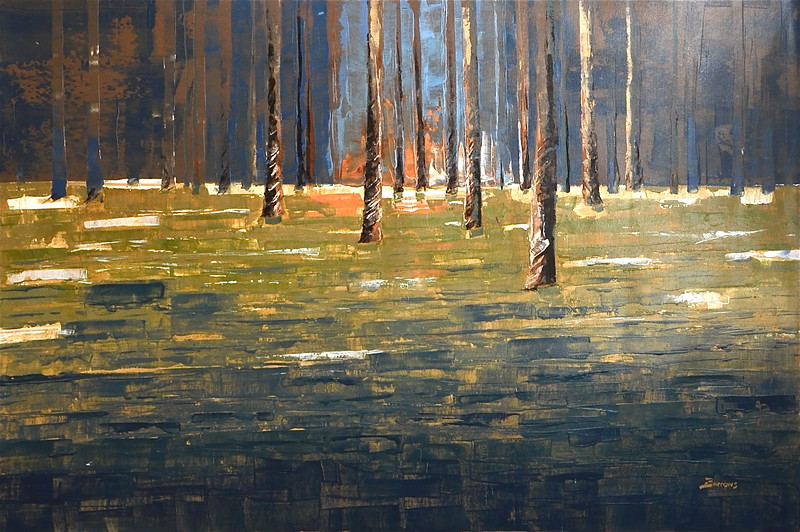 Forest Twilight-Burrows, 60x40 on canvas