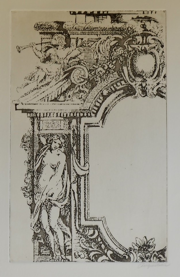 Classic Arch I-Augustine, 9 75 x 16 etching on paper JPG