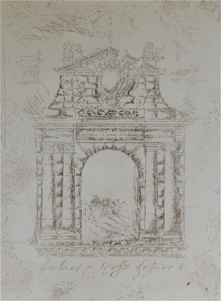 Arch II-Augustine, 12x16 etching on paper JPG