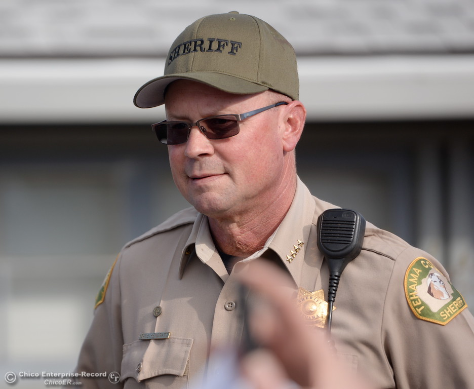 . Rancho Tehama Sheriff Dave Hencratt speaks during a press conference following several shootings in the Northern California community Tues. Nov. 14, 2017. Five people are confirmed dead and 10 injured.  (Bill Husa -- Enterprise-Record)