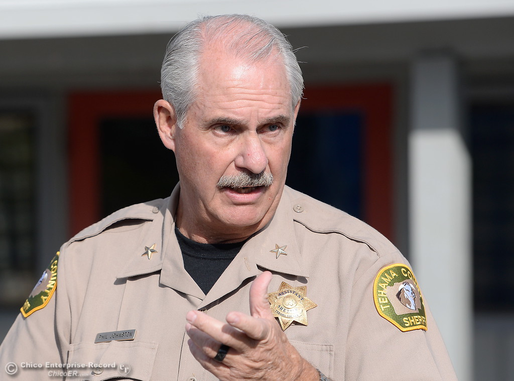 . Rancho Tehama Assistant Sheriff Phil Johston speaks during a press conference following several shootings in the Northern California community Tues. Nov. 14, 2017. Five people are confirmed dead and 10 injured.  (Bill Husa -- Enterprise-Record)