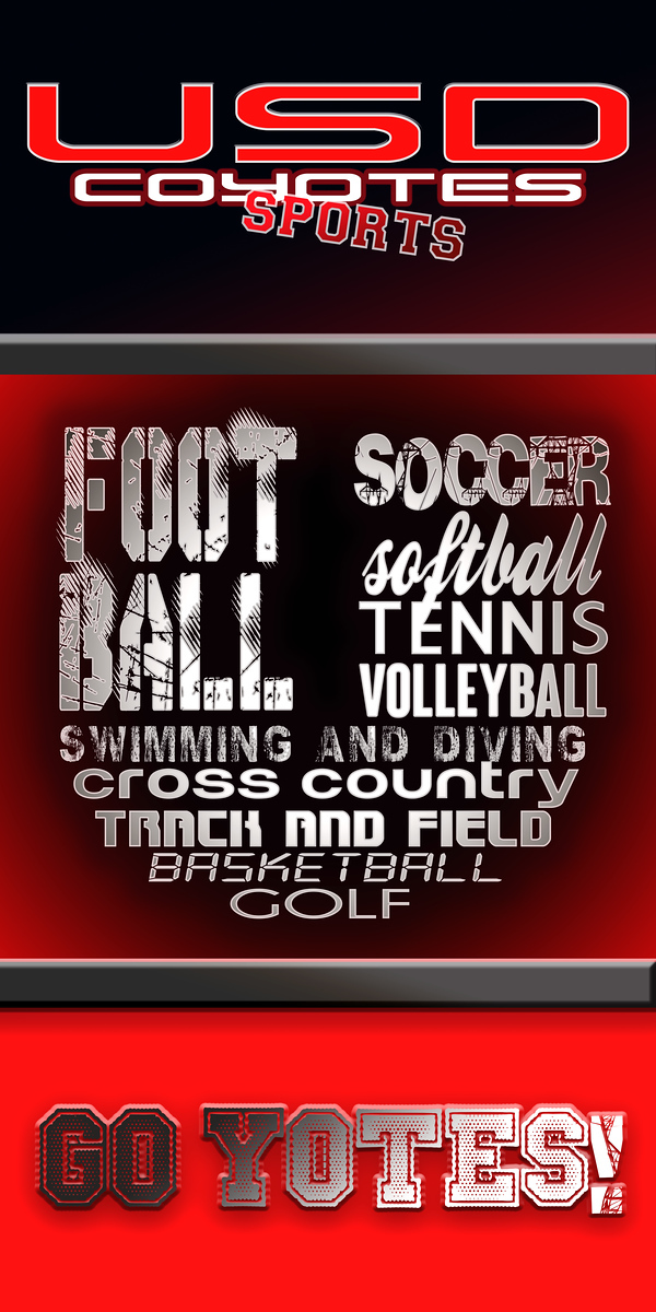 USD Coyotes Sports Poster