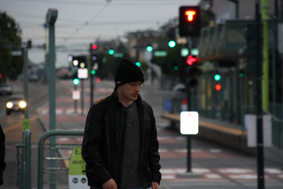 Pondering waiting for the T-third in San Francisco.