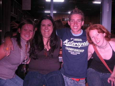 Jenna, Claire, Billy and Megan - at the Coly Pub, Christmas Eve